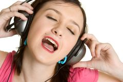 Person Listening to Music Stock Images