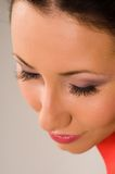 The person with long eyelashes Royalty Free Stock Photo