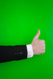 Person making thumbs up sign Stock Photos