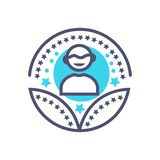 Person or man award icon- vector user award sign royalty free illustration