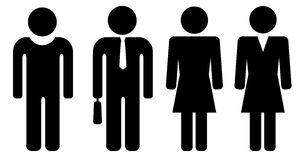 Person. Man and woman black person icon Stock Image