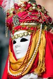 Person in mask at The Carnival of Venice royalty free stock photography