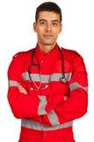 Person med paramedicinsk utbildning Royaltyfri Foto