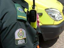 person med paramedicinsk utbildning Royaltyfri Bild