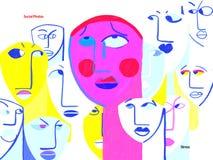 Person med social fobi och nödattack som ÄR LEDSNA vektor illustrationer