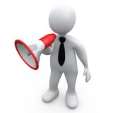 Person With Megaphone Stock Photo