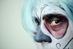 Person with a mexican calaveras makeup Stock Images