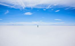 Person in the Middle of Snowfield during Daytime Royalty Free Stock Photos