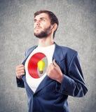 Person mit einem Loch in einer Brust lizenzfreies stockfoto