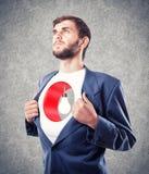 Person mit einem Loch in einer Brust lizenzfreies stockbild