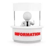 Person mit leerem Informations-Stand Stockfotos