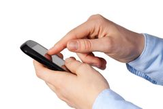 Person with mobile phone Royalty Free Stock Photo