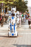 Person In Mobile Robot Costume Participates In Dragon Con Parade Royalty Free Stock Image