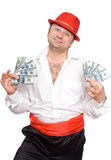 The person and money. The person very much loves money. Very much Stock Images