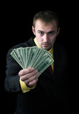 The person and money Royalty Free Stock Photography