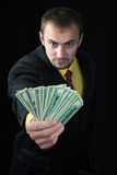 The person and money Royalty Free Stock Photos