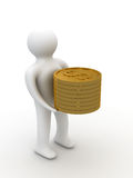 Person with money  Royalty Free Stock Photo