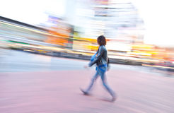 Person motion blur Stock Photography