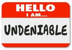 Person Nametag Sticker Valuable Worker essenziale innegabile Empl Fotografia Stock Libera da Diritti