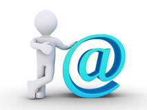 Person is next to e-mail Royalty Free Stock Images