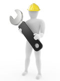 The person with nut Wrench Royalty Free Stock Images