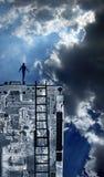 Person oben auf Technologie Lizenzfreie Stockbilder