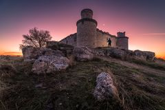 Twilight in the castle royalty free stock photo