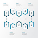 Person Outline Icons Set Colección de equipo, de negocio, de cabeza y de otros elementos También incluye símbolos tal como el fun Fotos de archivo