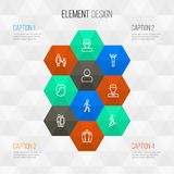 Person Outline Icons Set Colección de varón, de perfil, de júbilo y de otros elementos Imágenes de archivo libres de regalías