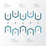 Person Outline Icons Set Collection de réjouissance, d'homme, de fonctionnement et d'autres éléments Inclut également des symbole Image libre de droits
