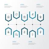 Person Outline Icons Set Raccolta del gruppo, dell'affare, della testa e di altri elementi Inoltre comprende i simboli quale funz Fotografie Stock