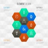 Person Outline Icons Set Raccolta dell'esultanza, dell'affare, della femmina e di altri elementi Inoltre comprende i simboli come Immagine Stock Libera da Diritti