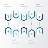 Person Outline Icons Set Raccolta dell'esultanza, dell'uomo, del funzionamento e di altri elementi Inoltre comprende i simboli qu Immagine Stock Libera da Diritti