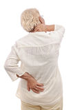 Person in pain back view Stock Photo