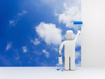 Person Paint Sky Royalty Free Stock Image