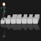 Person on a piano Stock Images
