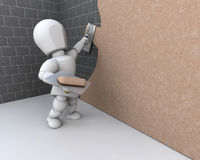 Person plastering a  wall Stock Image