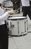 Person playing drum Stock Images