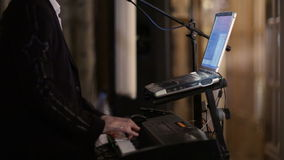 Person playing an electronic keyboard Stock Photography