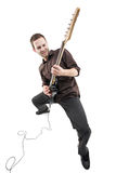 Person playing a guitar Stock Photography