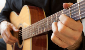 Person Playing Guitar Stock Image