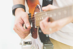 Person playing the Guitar Royalty Free Stock Photos