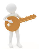 Person playing key as a guitar Stock Photo