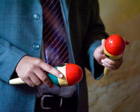 Person playing maracas Royalty Free Stock Photo