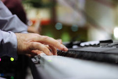 Person Playing Piano Close Up Photography Royalty Free Stock Photos
