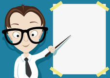 A person with a pointer. Vector illustration for message. A person with a pointer Stock Images