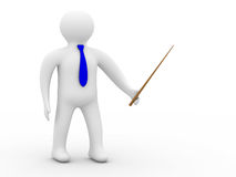 Person with pointer on white background Royalty Free Stock Images
