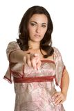 Person Pointing Stock Photography
