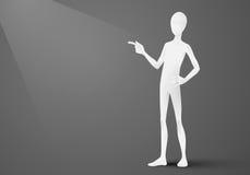 Person Pointing a su producto o texto Imagen de archivo libre de regalías