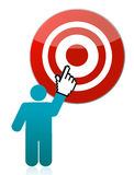 Person pointing target illustration Royalty Free Stock Photos